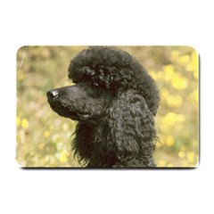 Poodle Love W Pic Black Small Doormat