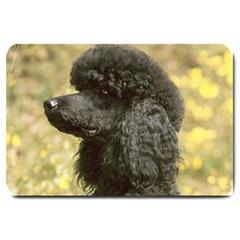 Poodle Love W Pic Black Large Doormat