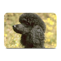 Poodle Love W Pic Black Plate Mats