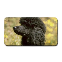 Poodle Love W Pic Black Medium Bar Mats