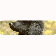 Poodle Love W Pic Black Large Bar Mats