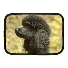 Poodle Love W Pic Black Netbook Case (Medium)