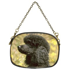 Poodle Love W Pic Black Chain Purses (One Side)