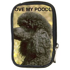 Poodle Love W Pic Black Compact Camera Cases