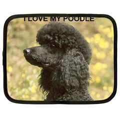Poodle Love W Pic Black Netbook Case (XL)