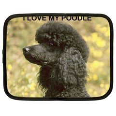 Poodle Love W Pic Black Netbook Case (XXL)
