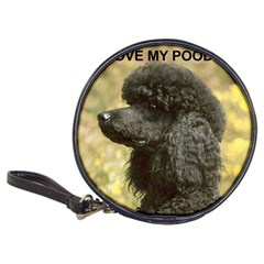 Poodle Love W Pic Black Classic 20-CD Wallets