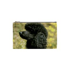 Poodle Love W Pic Black Cosmetic Bag (Small)