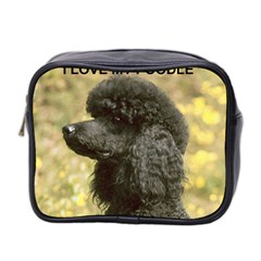 Poodle Love W Pic Black Mini Toiletries Bag 2-Side