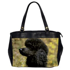 Poodle Love W Pic Black Office Handbags