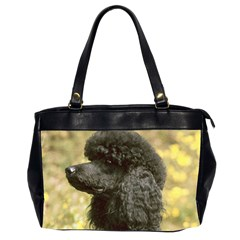 Poodle Love W Pic Black Office Handbags (2 Sides)