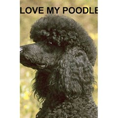 Poodle Love W Pic Black 5.5  x 8.5  Notebooks