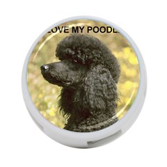 Poodle Love W Pic Black 4-Port USB Hub (One Side)