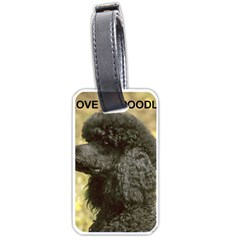 Poodle Love W Pic Black Luggage Tags (One Side)