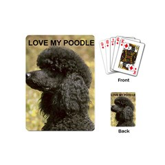 Poodle Love W Pic Black Playing Cards (Mini)