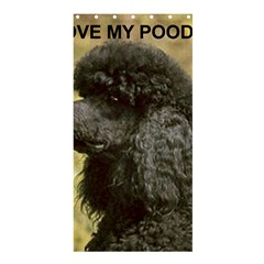 Poodle Love W Pic Black Shower Curtain 36  x 72  (Stall)