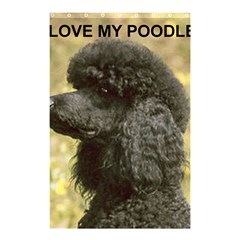Poodle Love W Pic Black Shower Curtain 48  x 72  (Small)