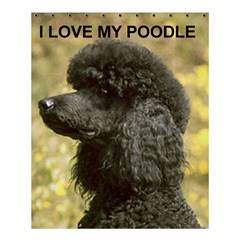 Poodle Love W Pic Black Shower Curtain 60  x 72  (Medium)