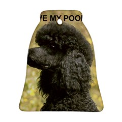 Poodle Love W Pic Black Bell Ornament (Two Sides)
