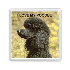 Poodle Love W Pic Black Memory Card Reader (Square)