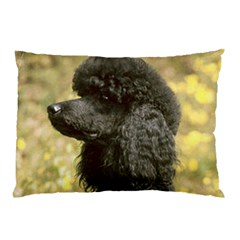 Poodle Love W Pic Black Pillow Case (Two Sides)