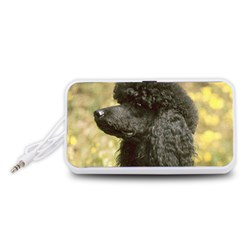 Poodle Love W Pic Black Portable Speaker (White)