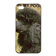 Poodle Love W Pic Black Apple iPhone 4/4s Seamless Case (Black)