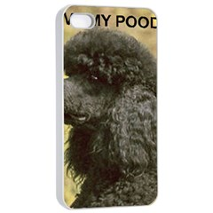Poodle Love W Pic Black Apple iPhone 4/4s Seamless Case (White)