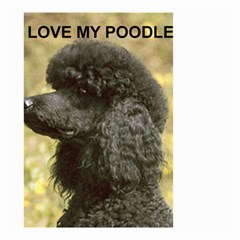 Poodle Love W Pic Black Small Garden Flag (Two Sides)