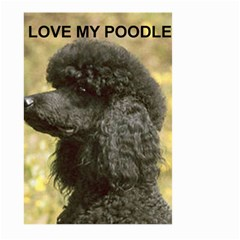 Poodle Love W Pic Black Large Garden Flag (Two Sides)