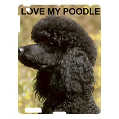 Poodle Love W Pic Black Apple iPad 3/4 Hardshell Case
