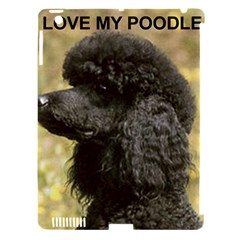Poodle Love W Pic Black Apple iPad 3/4 Hardshell Case (Compatible with Smart Cover)