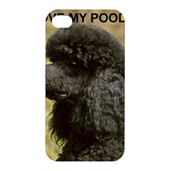Poodle Love W Pic Black Apple iPhone 4/4S Premium Hardshell Case