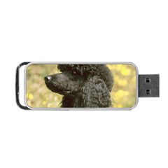 Poodle Love W Pic Black Portable USB Flash (One Side)
