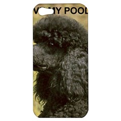 Poodle Love W Pic Black Apple iPhone 5 Hardshell Case