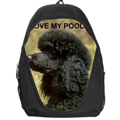 Poodle Love W Pic Black Backpack Bag