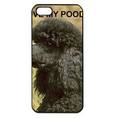 Poodle Love W Pic Black Apple iPhone 5 Seamless Case (Black)