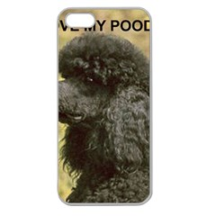 Poodle Love W Pic Black Apple Seamless iPhone 5 Case (Clear)
