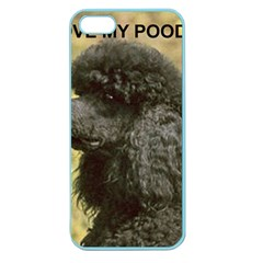 Poodle Love W Pic Black Apple Seamless iPhone 5 Case (Color)