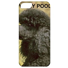 Poodle Love W Pic Black Apple iPhone 5 Classic Hardshell Case