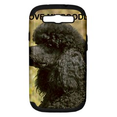 Poodle Love W Pic Black Samsung Galaxy S III Hardshell Case (PC+Silicone)