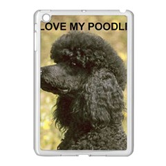 Poodle Love W Pic Black Apple iPad Mini Case (White)