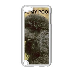Poodle Love W Pic Black Apple iPod Touch 5 Case (White)