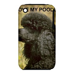 Poodle Love W Pic Black iPhone 3S/3GS