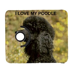 Poodle Love W Pic Black Galaxy S3 (Flip/Folio)