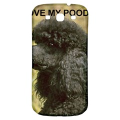 Poodle Love W Pic Black Samsung Galaxy S3 S III Classic Hardshell Back Case