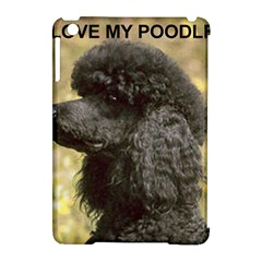 Poodle Love W Pic Black Apple iPad Mini Hardshell Case (Compatible with Smart Cover)