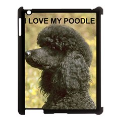 Poodle Love W Pic Black Apple iPad 3/4 Case (Black)