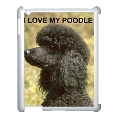 Poodle Love W Pic Black Apple iPad 3/4 Case (White)