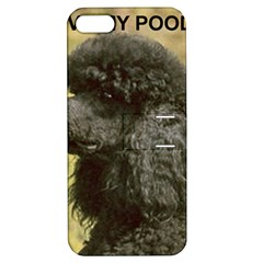 Poodle Love W Pic Black Apple iPhone 5 Hardshell Case with Stand